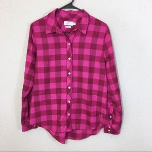 Vineyard Vines Relaxed Buffalo Check Flannel Top 8